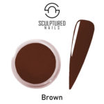 colored acrylic powder brown