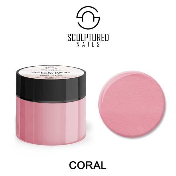 colored acrylic powder coral