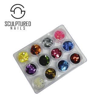 Hexagon Nail Glitter Sets