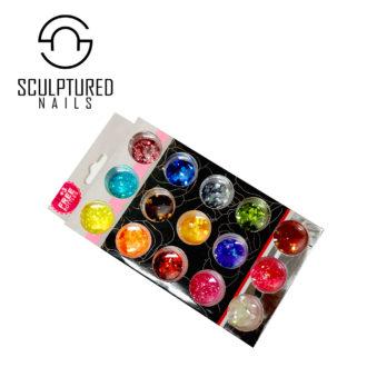 Iridescent Nail Glitter Sets