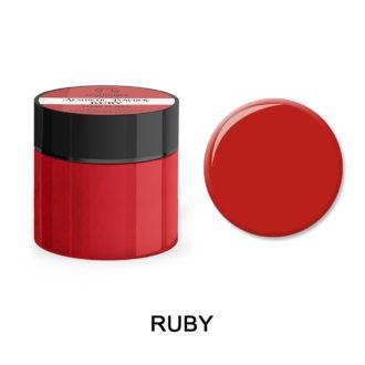 Colored Acrylic Powder RUBY 25gram